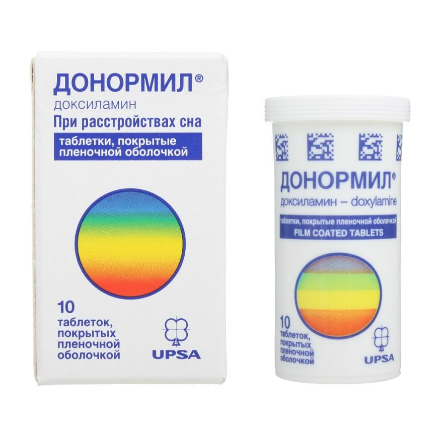 Таблетки при расстройствах сна Донормил