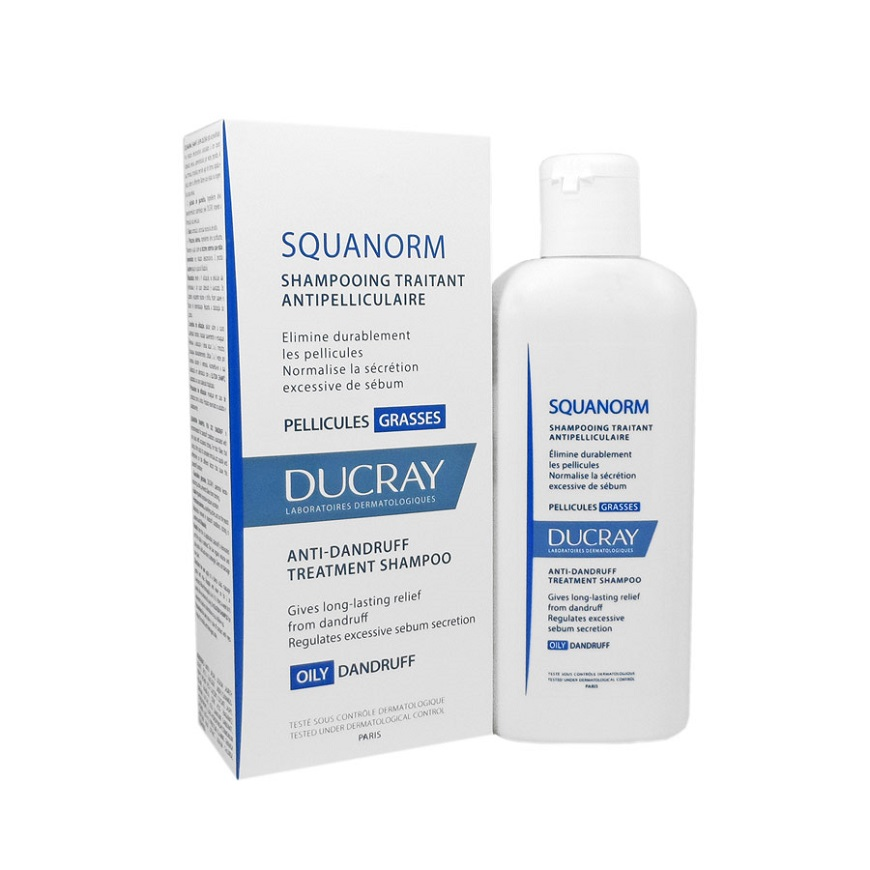 Ducray Squanorm Shampooing Traitant Antipelliculaire Pellicules Grasses