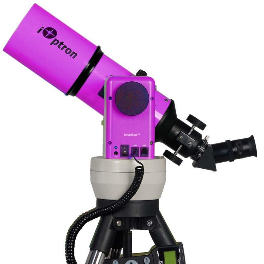 модель  с пультом iOptron SmartStar-A-R80 Pulsar Purple