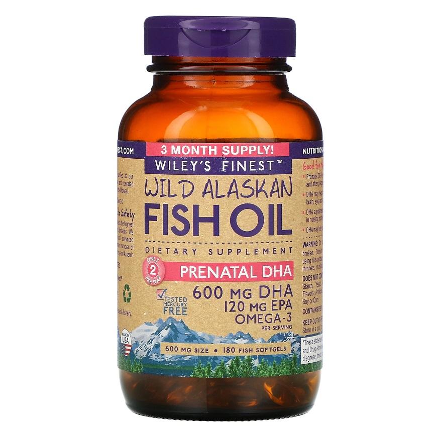 Высокоэффективный Wiley's Finest Wild Alaskan Fish Oil Prenatal DHA