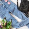 джинсы на столе