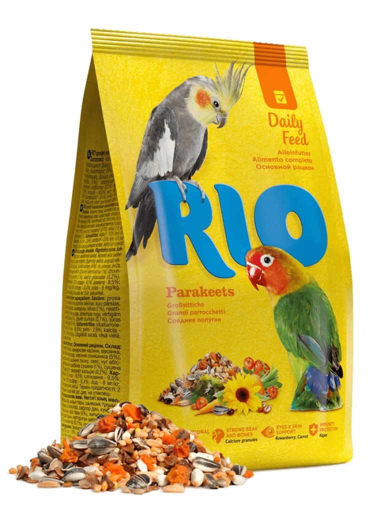 Rio «Для средних попугаев» – основной рацион Однозначный выбор заводчиков