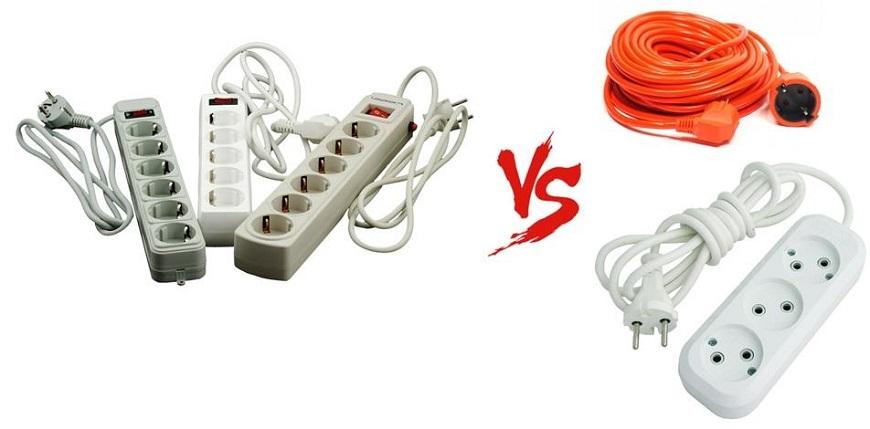 разница между сетевым фильтром и удлинителем