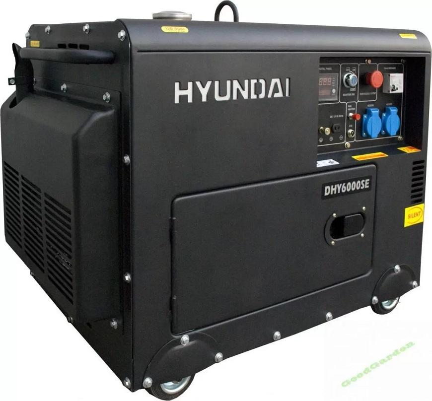Hyundai DHY-6000 SE Дизельный генератор с ручным и электрическим пуском