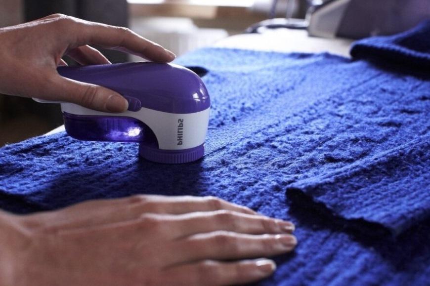 удаления катышков на ткани
