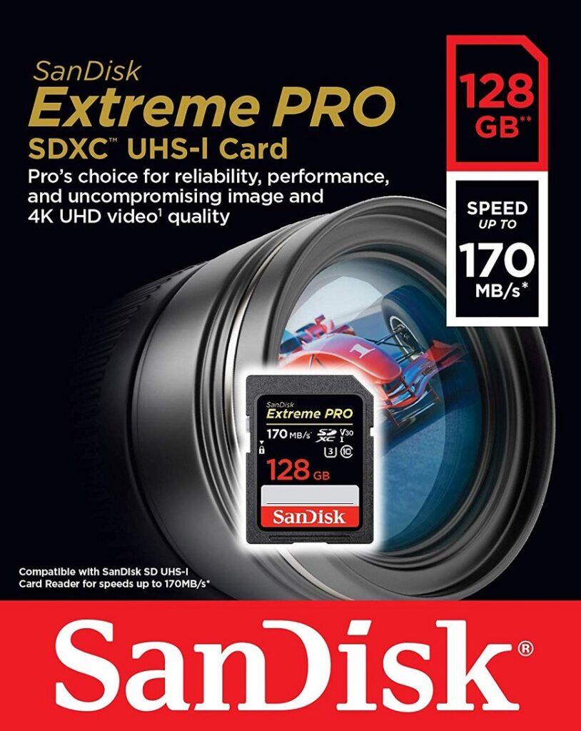 SanDisk Extreme Pro microSDXC Class 10 UHS Class 3 V30 A2 170MB карта памяти