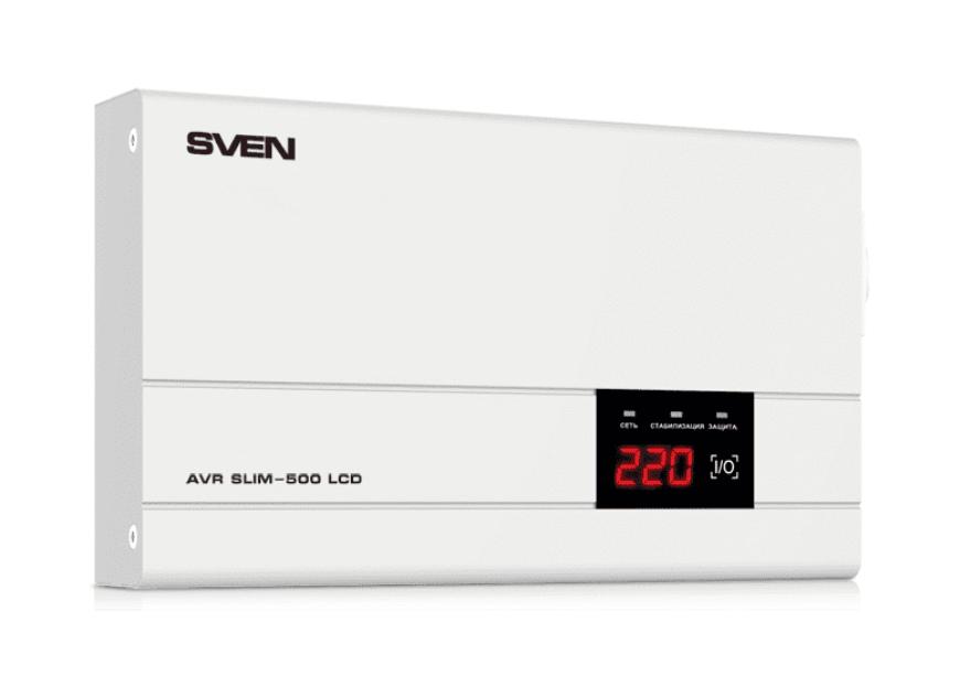 стабилизатор напряжения SVEN AVR SLIM 500 LCD (0.4 кВт)