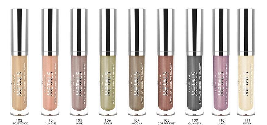 новинка косметической компании Golden Rose Metallic Liquid Eyeshadow