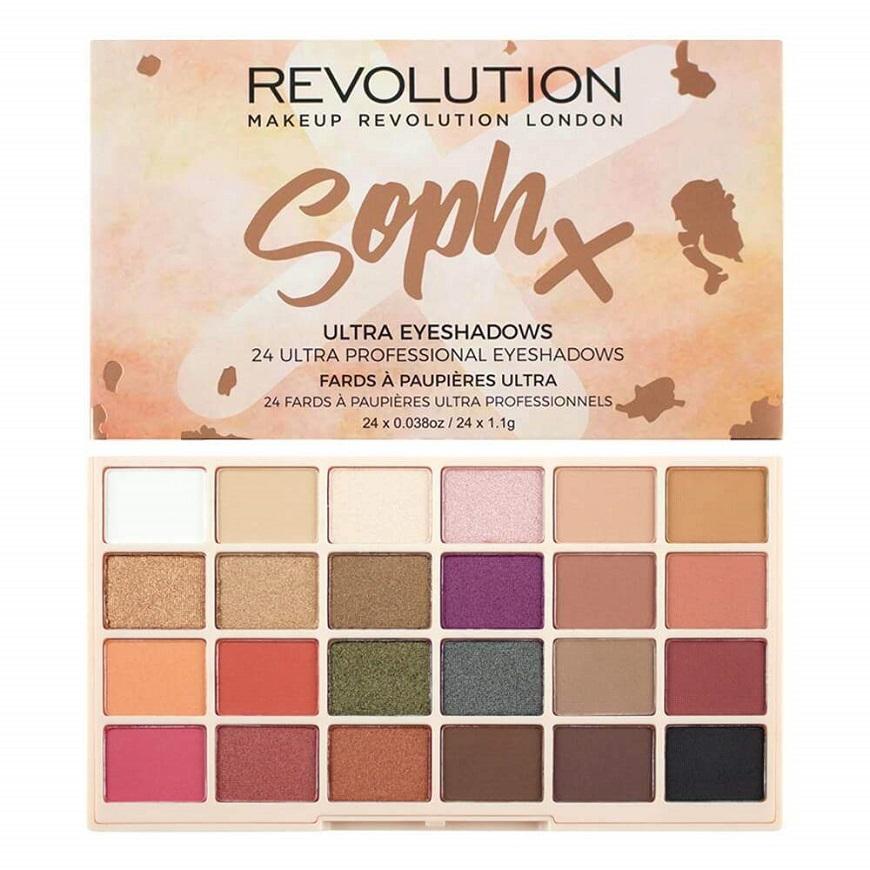 REVOLUTION SophX Ultra Eyeshadows  в которую входят 24 цвета