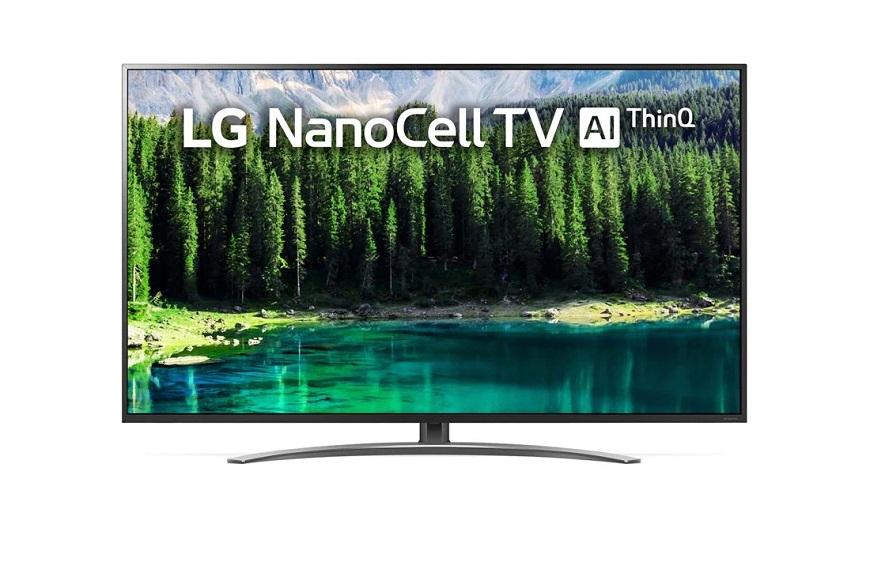 NanoCell LG 75SM8610 75 имеющая разрешение 4K UHD и подсветку Edge LED